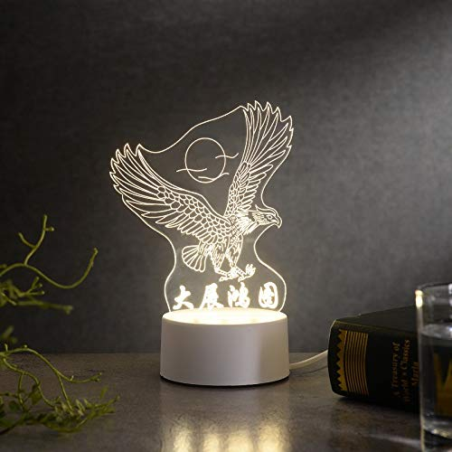 3D kleine Tischlampe Geschenk Licht kreative warme Schlafzimmer Korridor Nachttischlampe Neue USB Nachtlicht große Ausstellung Makro USB Monochrom