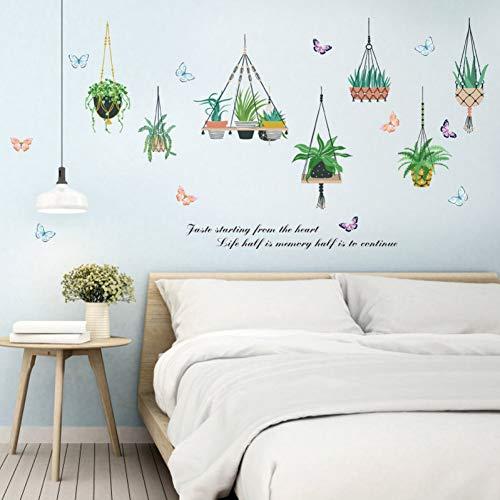 TAOYUE hangmand plant pot sticker wandsticker plant groen versiering thuis TV sofa slaapkamer decoratie vinyl PVC