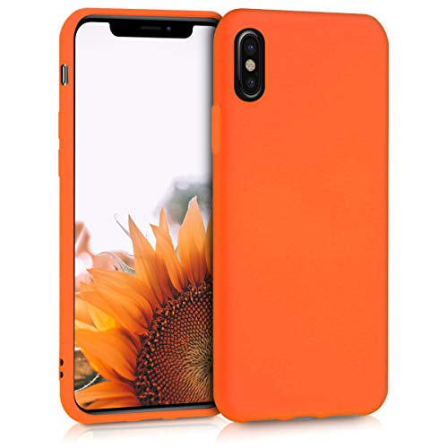 kwmobile Hülle kompatibel mit Apple iPhone X - Handyhülle - Handy Hülle in Neon Orange