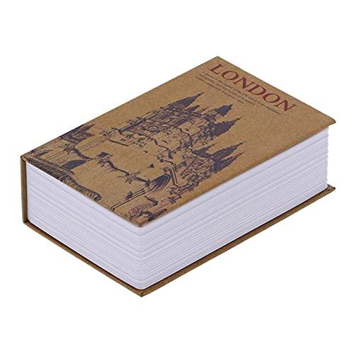Caja de seguridad para libros, dinero, 18 x 11,6 x 5,5 cm, para guardar objetos importantes para monedas, documentos, joyas