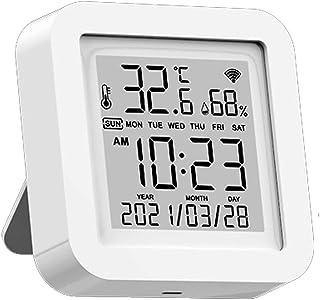 Festnight Tuya LCD-display, wifi, USB-voeding, intelligente sensoren, °F/℃, wijzigt tijd/datum/temperatuur/luchtvochtighei...