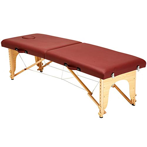 YIJIAHUI Tisch Tragbares Massagebett Spa-Bett 2 Abschnitt leichtes, tragbares Massagetisch Couch-Bett Folding Schönheit Bett Verstellbarer Salon Spa Tisch (Color : Photo Color, Size : 186x60cm)