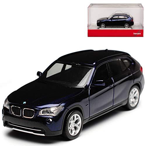 B-M-W X1 E84 SUV Dunkel Blau Fast Schwarz 1. Generation 2009-2015 H0 1/87 Herpa Modell Auto mit individiuellem Wunschkennzeichen