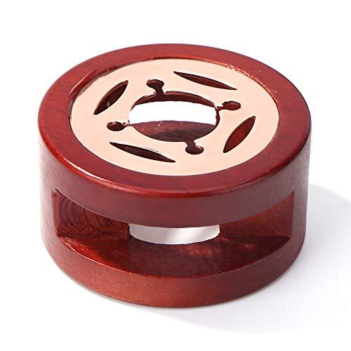 fuaensm Sello de cera retro de madera horno de fusión de cera de horno de cera Pot Beads Sticks Calentador (B)