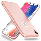 NALIA Funda Compatible con iPhone XR, Hard-Case Protectora Ultra-Fina Bumper Carcasa Dura en Look de Metal, Ligera Cubierta Telefono Movil Cobertura Premium Smart-Phone Cover, Color:Rosa Gold Oro