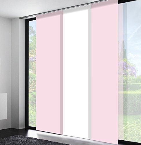 Sun World Schiebegardinen nach Maß, Flächenvorhang, alle Größen, Maßanfertigung, Schiebevorhang, Raumteiler, Gardinen, Vorhang, Blickdicht (265cm Höhe x 80cm Breite/Flieder)