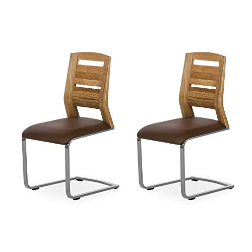 Amazon Marke -Alkove - Hayes - 2er Set mit gepolsterter Sitzfläche, Wildeiche