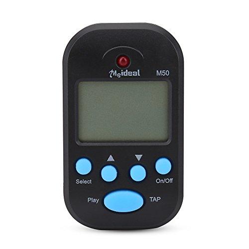 Mini metrónomo, M50 LCD Digital Beat Tempo para piano, violín, guitarra, tambor de trampa, accesorio para instrumento musical, color negro