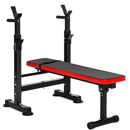CCONE Verstellbarer Faltbare Fitness Langhantel Rack Und Hantelbänke Zu Home Gym,Klappbare Krafttrainingsbank Ganzkörpertraining