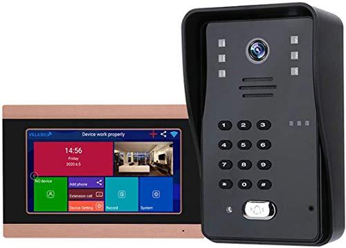 Vidéo Sonnette Système de kits d'interphone de porte vidéo 8 * 7 'HD Moniteur HD avec la version...