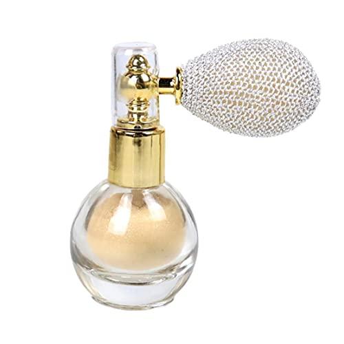 Fivesix Proyección de Polvo del Brillo del Reflejo aclaran Aroma de resaltado del Pigmento del Maquillaje en Polvo para la Cara del Cuerpo del Pelo -Marfil Blanca, Maquillaje Sets