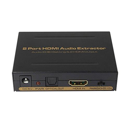 2 Port HDMI Audio Converter. Audio EDID Configuración y 2 Salida HDMI...