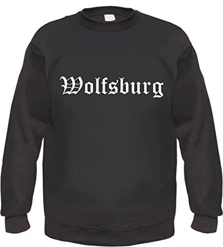 HB_Druck Wolfsburg Sweatshirt Pullover M Schwarz