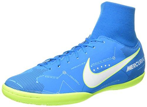 Nike Mercurialx Vctry VI DF NJR IC, Scarpe per Allenamento Calcio Uomo, Turchese (Blue Orbit/White/Armory Navy/Volt), 43 EU