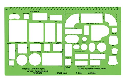 Westcott Plastic Designer Template, 1/4 Inches, Green