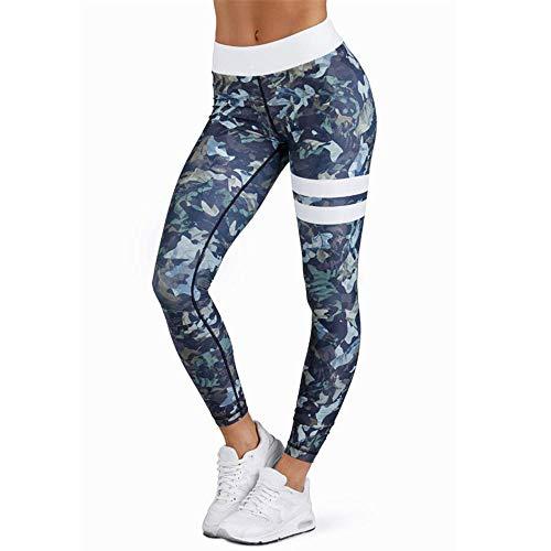 MEIbax Leggings Deportivos elásticos y Transpirables para Mujer, Leggings de Fitnes Yoga Deportes de Alta Cintura, Pantalones Deportivos