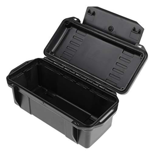 P Prettyia Werkzeugbox/Werkzeugkoffer/Werkzeugkasten Camping Werkzeug Organizer - Schwarz