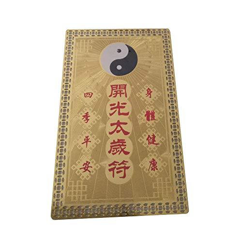 Cartão de Amuleto FengShuiGe Feng Shui Tai Sui para Proteção
