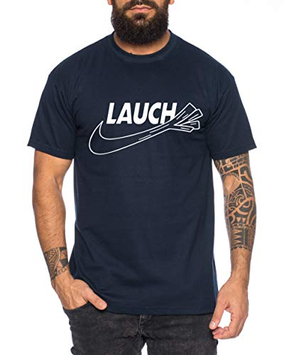 Lauch Herren T-Shirt Cooles lustiges Fun-Shirt, Farbe:Dunkelblau, Größe:XXL