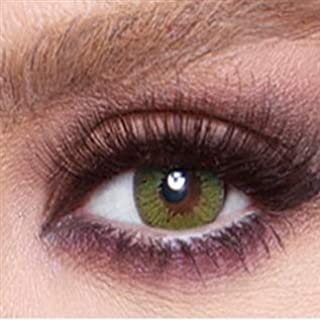 Bella Cosmetic Contact Lenses Glow, Color - Lime Green, Power - Plano
