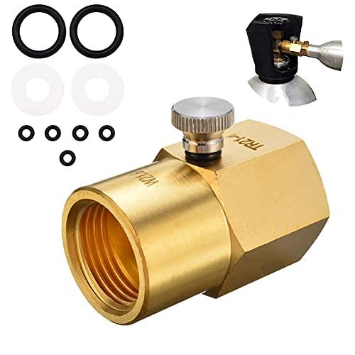 YOMERA CO2-Flaschenadapter, CO2 Adapter, Füllung SodaStream-Tank CO2-Nachfülladapter-Anschluss, CO2-Tank Soda Maker Zubehör für CGA320 to TR21.4-Ventil des CO2-Tanks(W21.8-14)