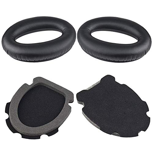 A20 Replacement Earpads Cushions Kit Compatible with Bose Aviation Headset X A10 A20 Headphone Ear Cups Ear Cover Earpads Repair Parts Memory Foam Ear Pads(Black)