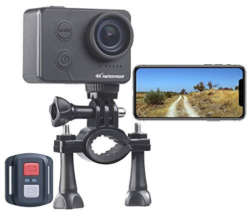Somikon Actioncam WLAN: UHD-Action-Cam mit WLAN, Marken-Sensor, wasserdicht ohne Gehäuse, IPX8 (Actioncam wasserdicht ohne Gehäuse)
