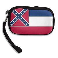 財布 財布の財布、ミシシッピ旗の現金カードホルダー、結婚式の休日の誕生日のためのスタイリッシュな財布の財布、15x9.5x2cm