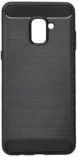 1245-Capa Protetora Carbon Fiber para Galaxy A8 PLUS, iWill, Capa Anti-Impacto, Preta