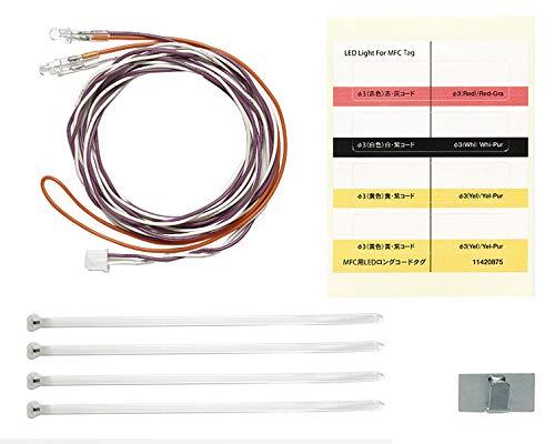 TAMIYA 56550 MFC LED-Set 3mm weiß L:1100mm, Ersatzteil, Modellbau, Zubehör für RC Fahrzeug/ferngesteuertes Auto, Tuningteile