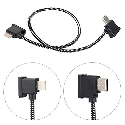 Cable Adaptador de Dron, Cable de Control Remoto de 30 cm para Cable de Cable Adaptador Tipo C Compatible con dji Mavic Air 2