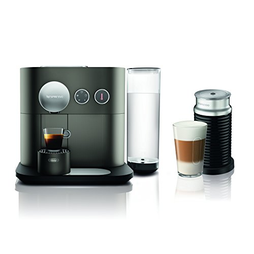 Nespresso Expert Original Espresso Machine Bundle with Aeroccino Milk Frother by De