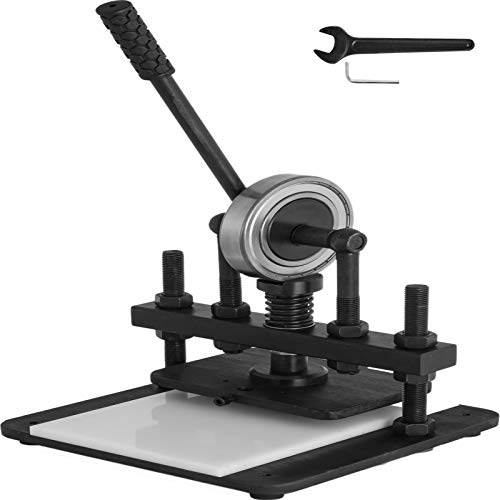 VEVOR Leather Cutting Machine 200x140mm Embossing Machine Carbon Steel Leather Cutter Machine with Upper Platen for Fabric Leather PVC/EVA Sheet