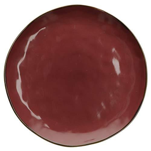 Rose e Tulipani Teller Concerto Rosso Malaga Speiseteller 27 cm Rot italienisch Steinzeug Tafelservice Essteller Red