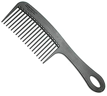 Chicago Comb Model 8 Carbon Fiber Made in USA Anti-static Detangling & Shower comb adds Lift & Volume 8.5 inches  21.5 cm  long