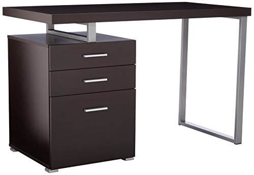 Monarch Specialties Hollow-Core Left or Right Facing Desk, 48-Inch Length, Cappuccino