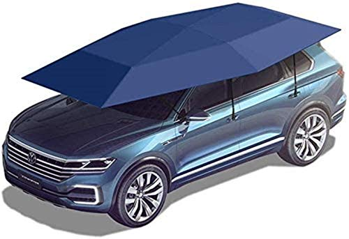 GMZTT Car Sunshades Automatic Vehicle Protection Car Tent Canopy Hood Outdoor Activities Foldable Waterproof Security Shade Car Shed, Two Kinds Of Patterns (Color : Blue-A-4.2x2.3cm)