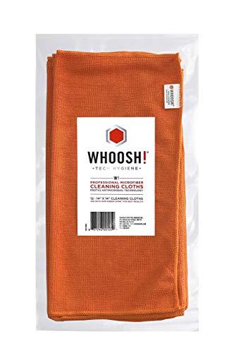 WHOOSH! Screen Cleaning Microfiber Cloths Set BEST for Smartphones, iPads, Eyeglasses, Kindle, LED, LCD & TVs - 12 Pack