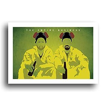 Breaking Bad 13x19 Original Minialist Art Poster Walter White Jesse Pinkman