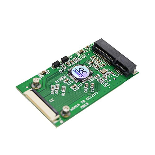 Ximimark 1Pcs Mini PCI-E mSATA to CE ZIF 1.8 inch SSD to 40 pin ZIF CE Cable Adapter Converter Card SSD HDD Adapter Converter