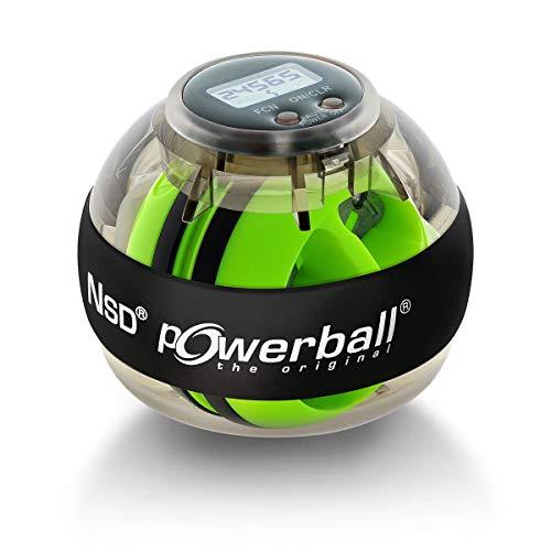 Powerball Autostart Max, gyroskopischer Handtrainer inkl. Aufziehmechanik und Drehzahlmesser, transparent-grau, das Original von Kernpower