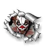 SUNYU Horror Clown Vinyl Car Sticker Creative Decals Waterproof Auto Accessories for BMW,13cm*10cm