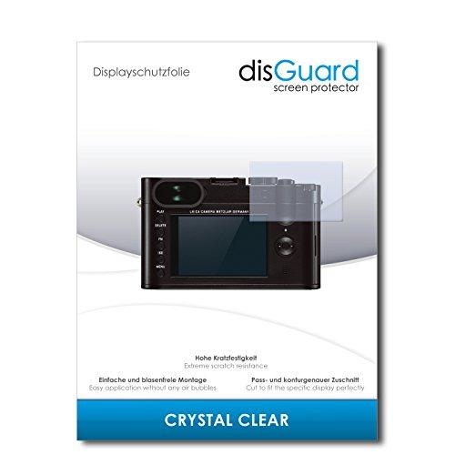 disGuard Displayschutzfolie für Leica Q [2 Stück] Crystal Clear, Kristall-klar, Unsichtbar, Extrem Kratzfest - Displayschutz, Schutzfolie, Glasfolie, Panzerfolie