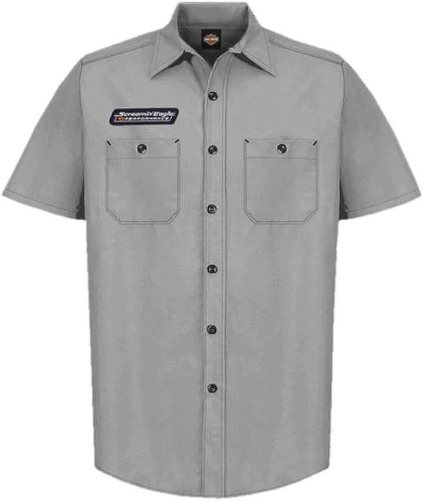 Harley-Davidson Men's Screamin' Eagle Contrast Stitch Woven Shop Short - Gray