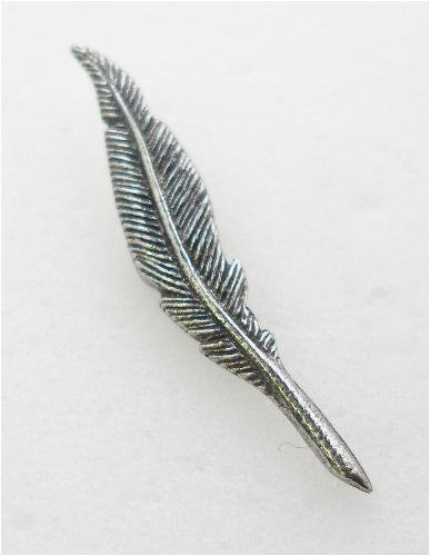 Quill Pin Badge in Fine English Pewter, Handmade.