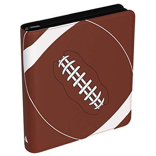Rayvol 720 Pockets Football Card Binder for Trading Cards, Fit 720 Cards with 40 Sleeves Included, 3 D-Ring Album for Card Collection Storage