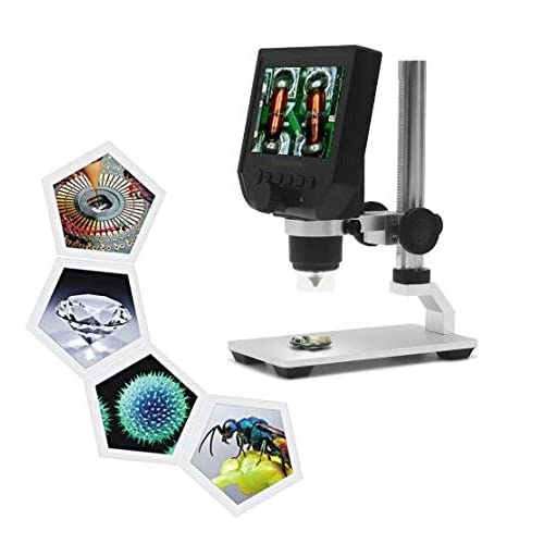 VTechcom Chinese 600X Digital Microscope 3.6MP Sensor Zoom LCD Kit with 1080P/720P/VGA Stereo Camera
