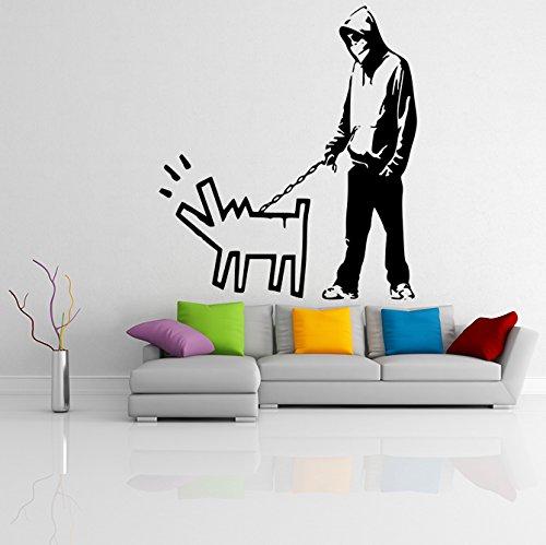 (108 x 120 cm) Banksy de vinilo adhesivo decorativo para pared de...