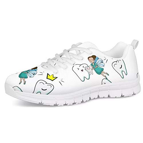 Woisttop White Nurse Teeth Design Damen Sneaker Komfortable Outdoor Walking Running Sportschuhe für Teen Girls