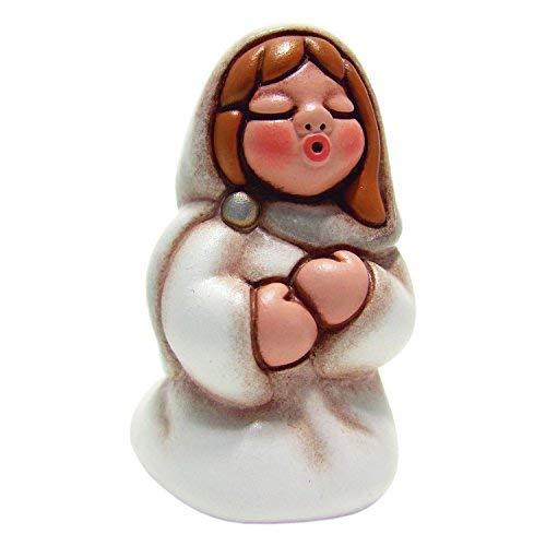 THUN Presepe Della Famiglia Maria, In Ceramica, H 7,6 Cm
